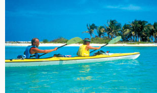 Belize sea kayaking