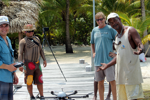 Jason, Carlos, Jim, and Junior with the drone.
