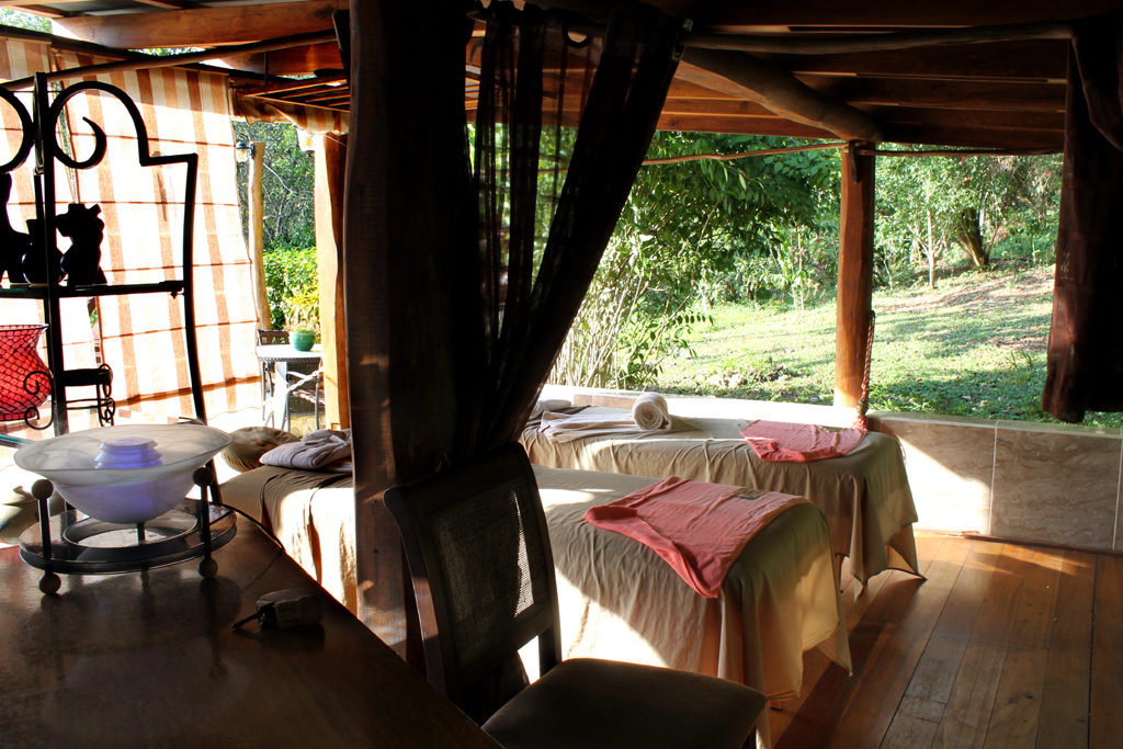 Open air spa at Mystic River in Belize