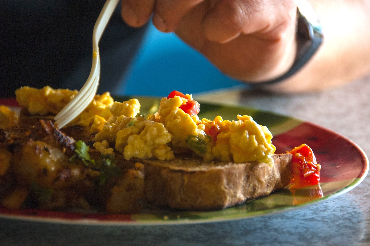 Scrambled Egg Medley and Homemade Belizean Toast
