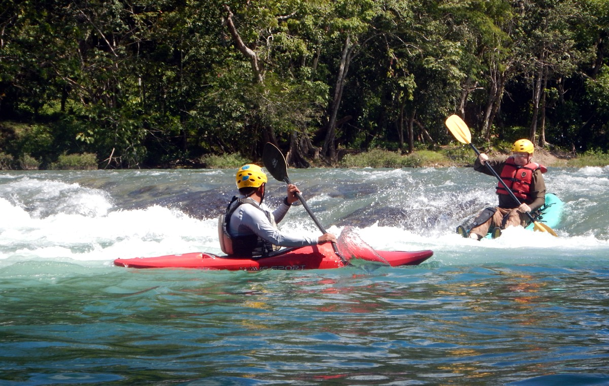 Learn to whitewater kayak on the Mopan River in Belize
