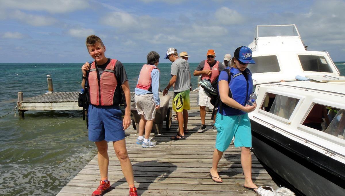 Arriving on Long Caye