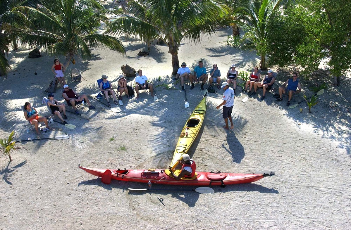 Sea kayak orientation. We spend about an hour on land, then hit the water!