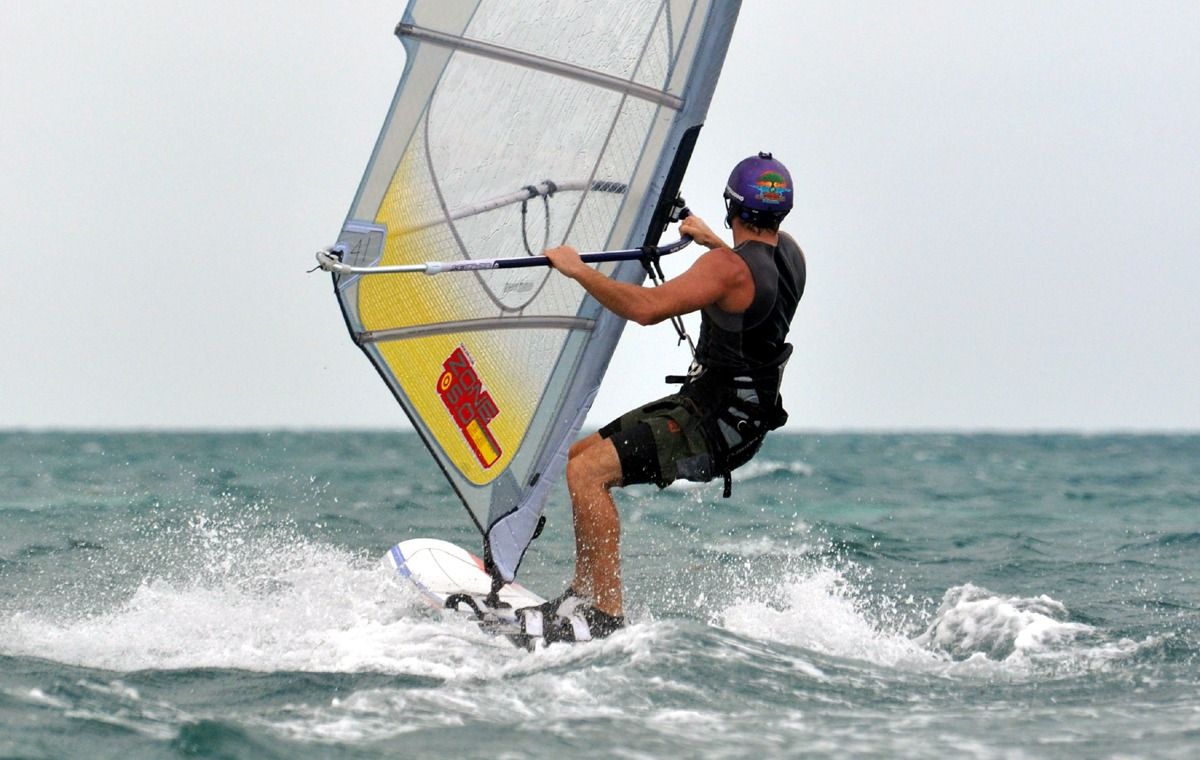 You can learn to windsurf on your Belize vacation!