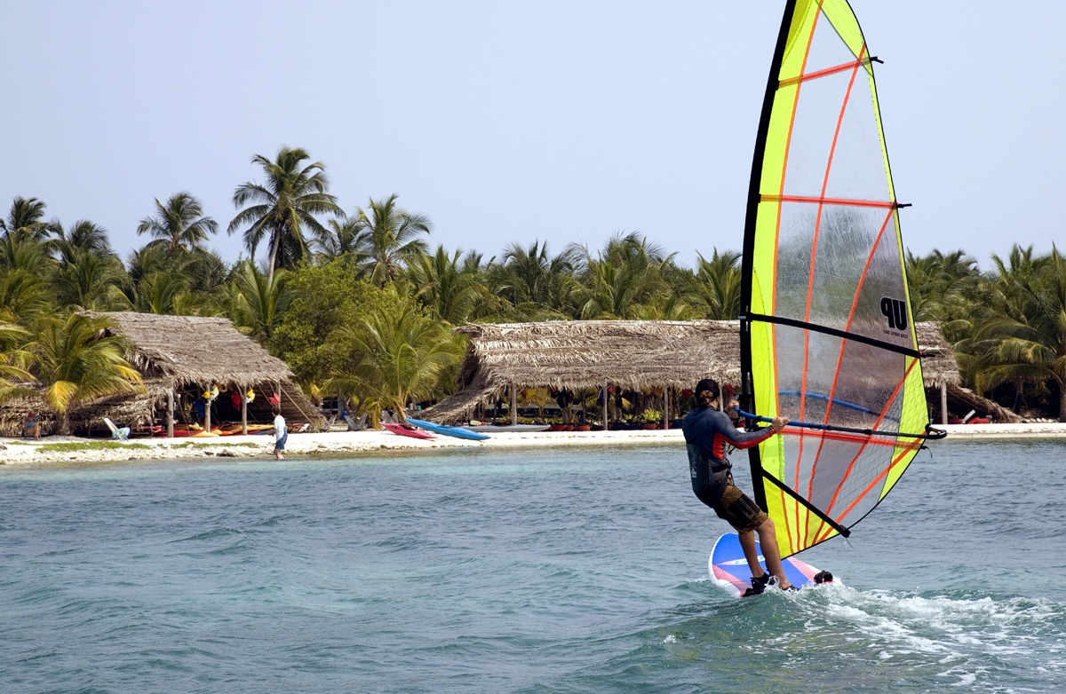 We have updated windsurf gear and perfect conditions for learning