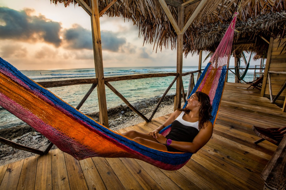 Every cabana has a hammock on the porch just for you