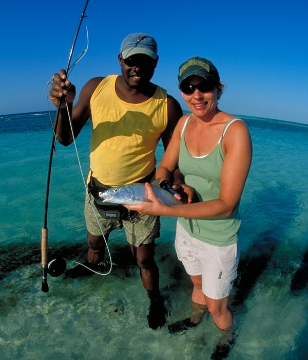 There is no better bone fishing location than Glover's Reef, Belize