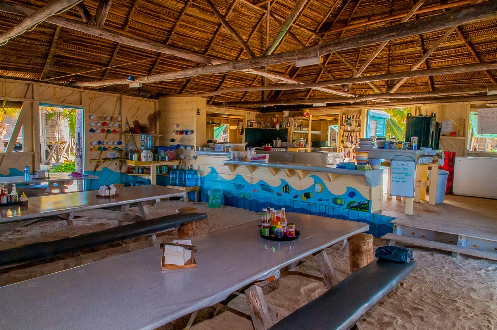 Long Caye dining hall