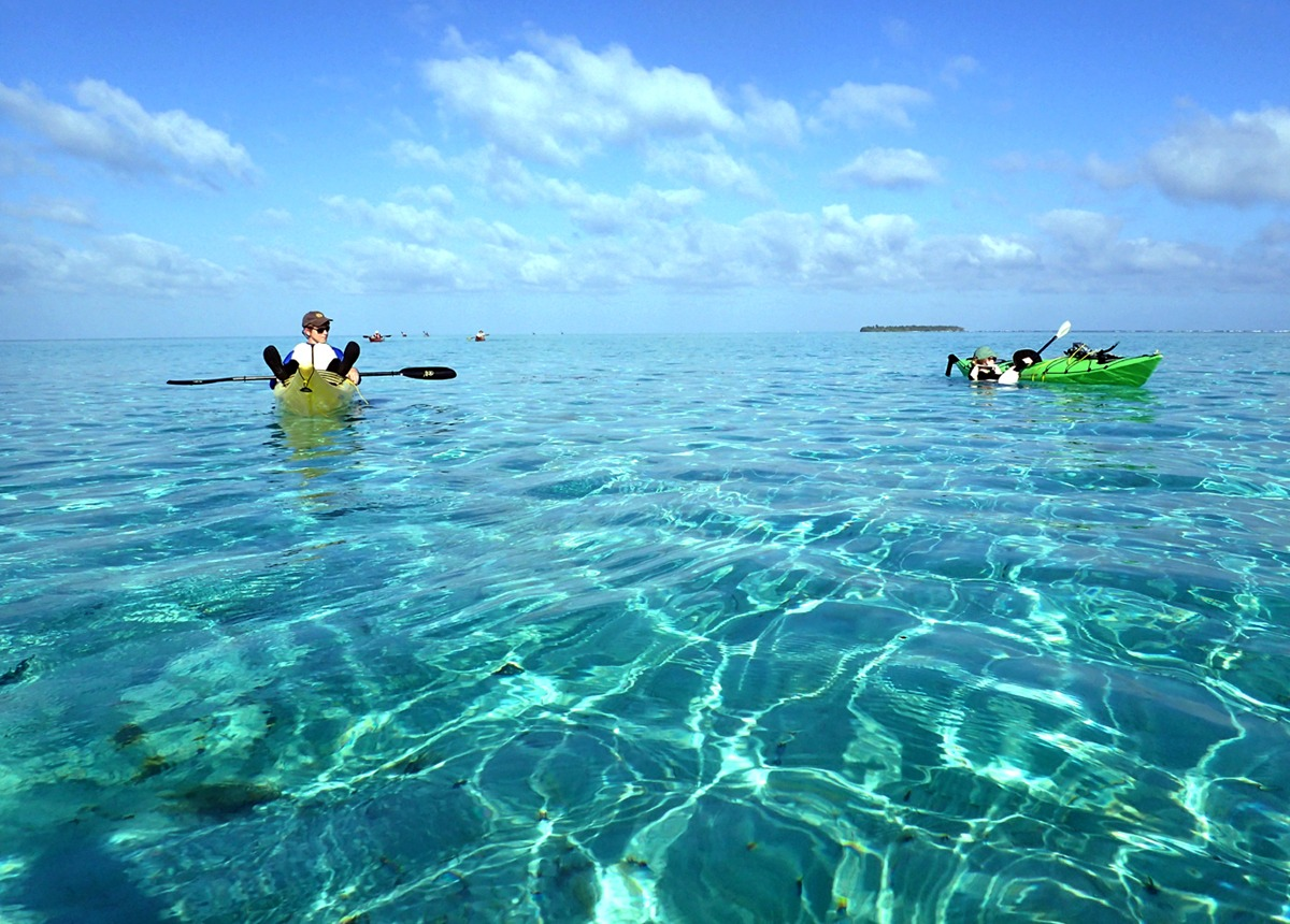The paddle to Middle Caye is AMAZING