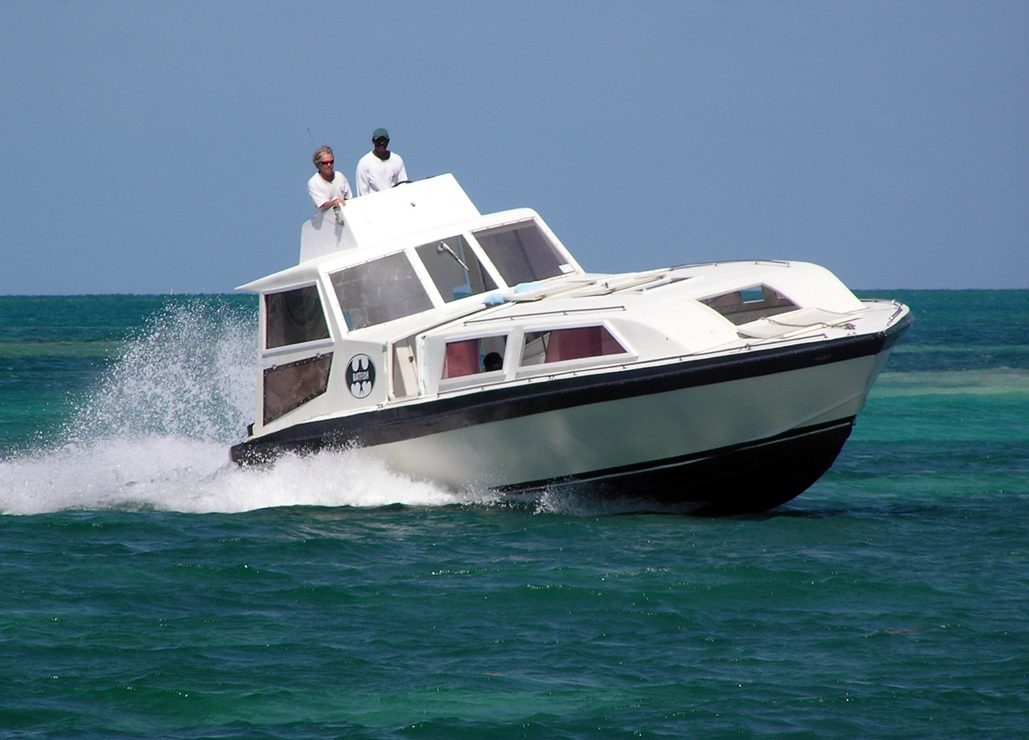 Private shuttle boat to Glover's Reef, Belize