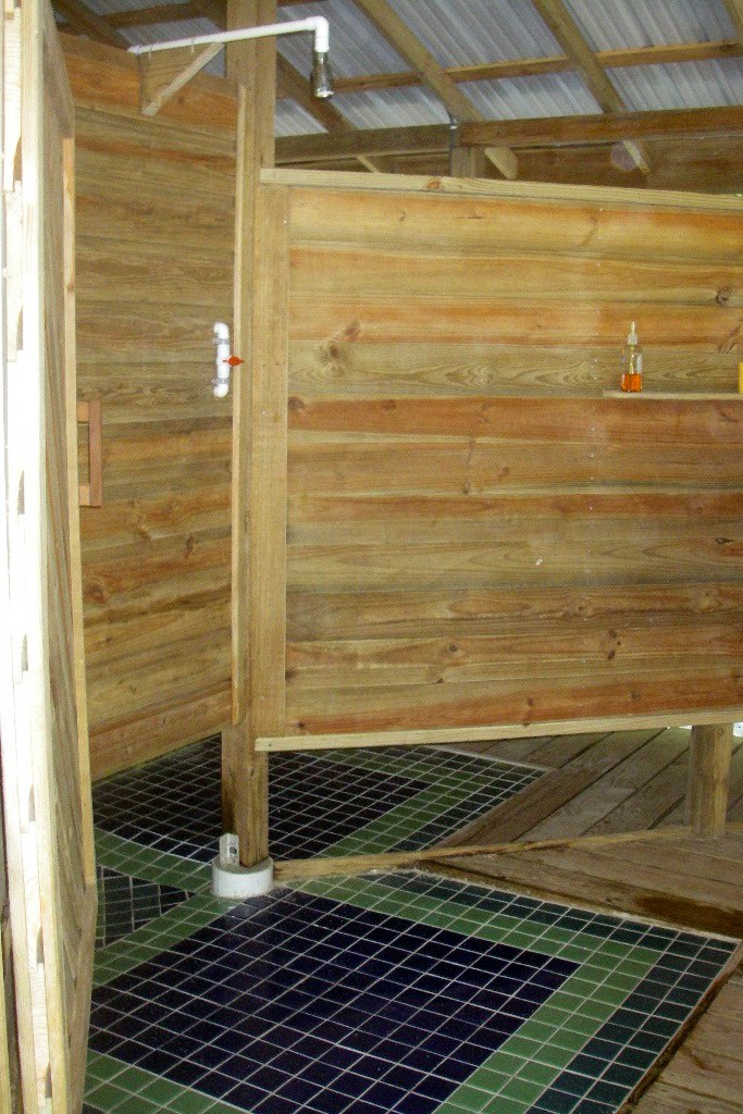 Shower stall interior