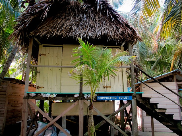 Long Caye, Belize restroom