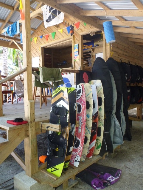 Kiteboards are available to loan out