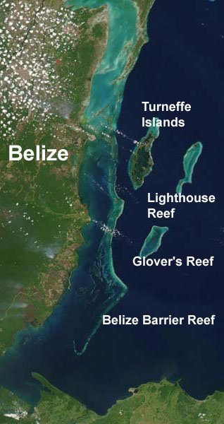 Belize by satellite