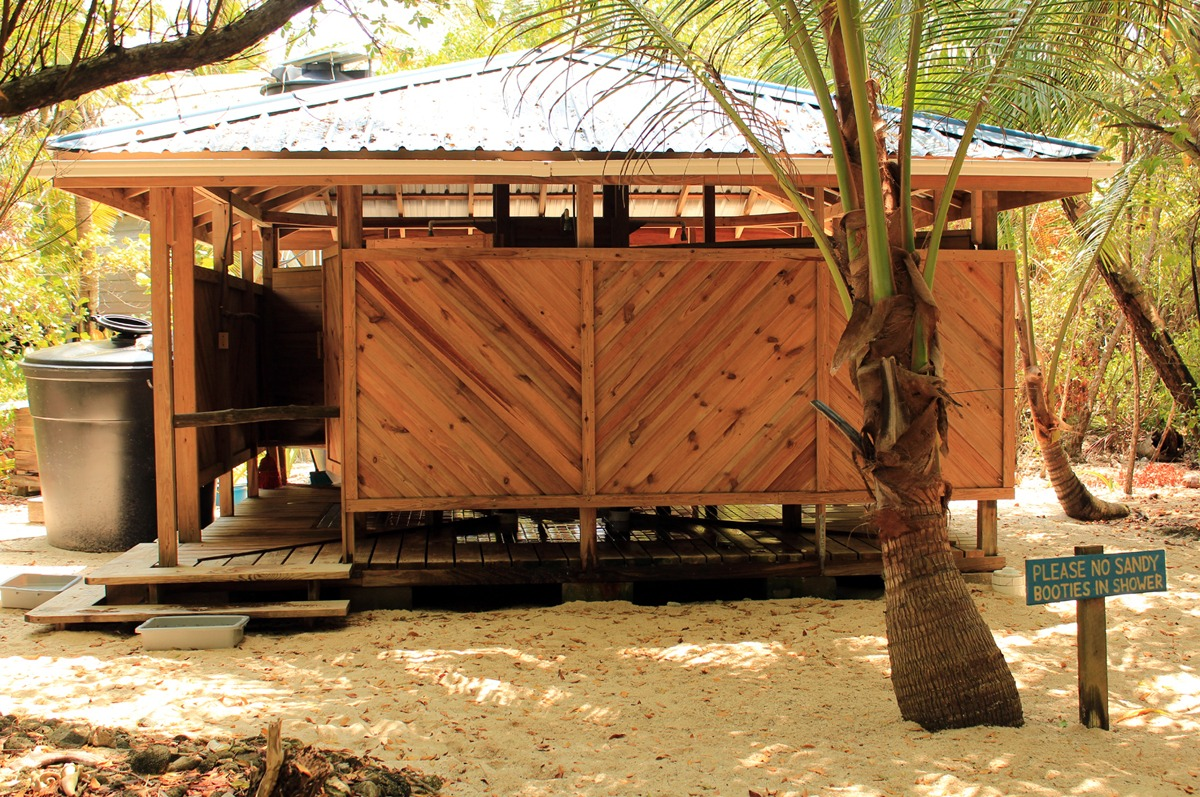 Long Caye shower complex