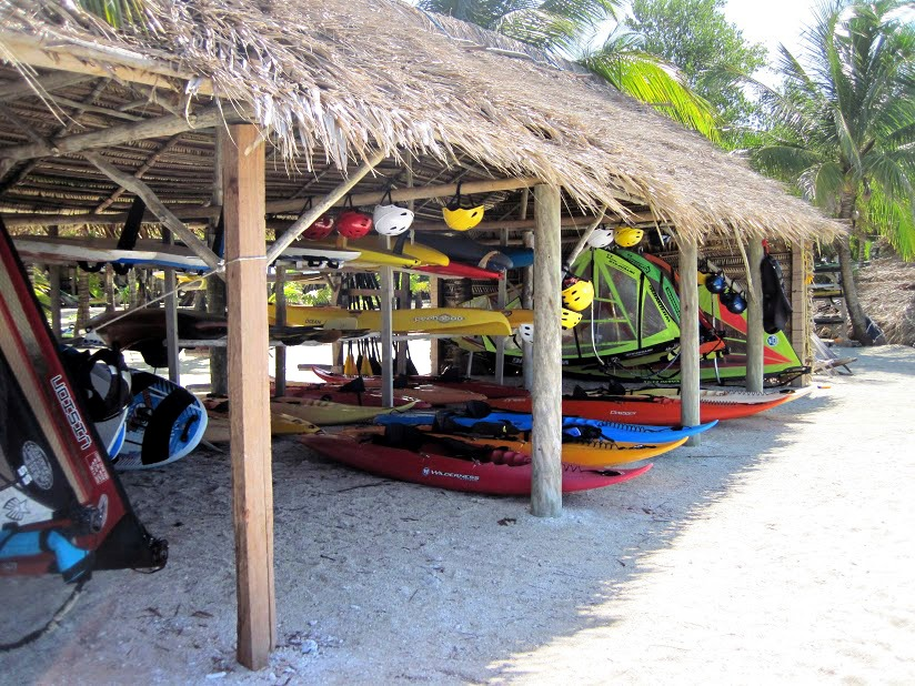 Our surf palapa, this equipment is rigged and ready to use at any time