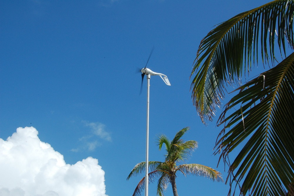 We have two wind generators on our Belize island