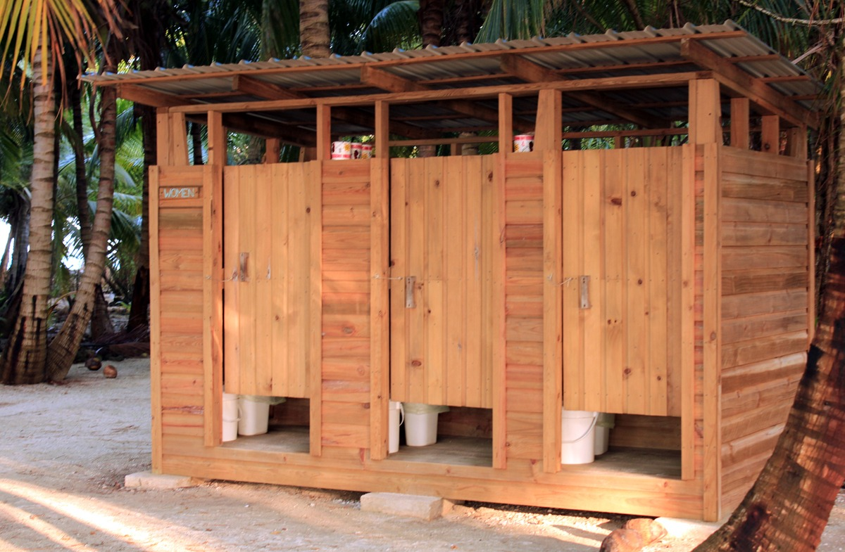 Women's restroom on Long Caye