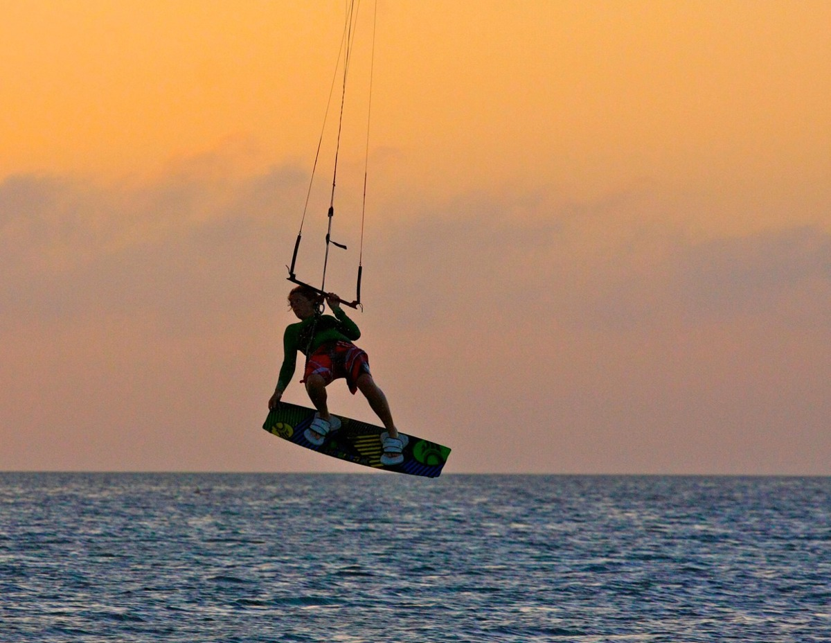 Sunset session, Glover's Reef, Belize