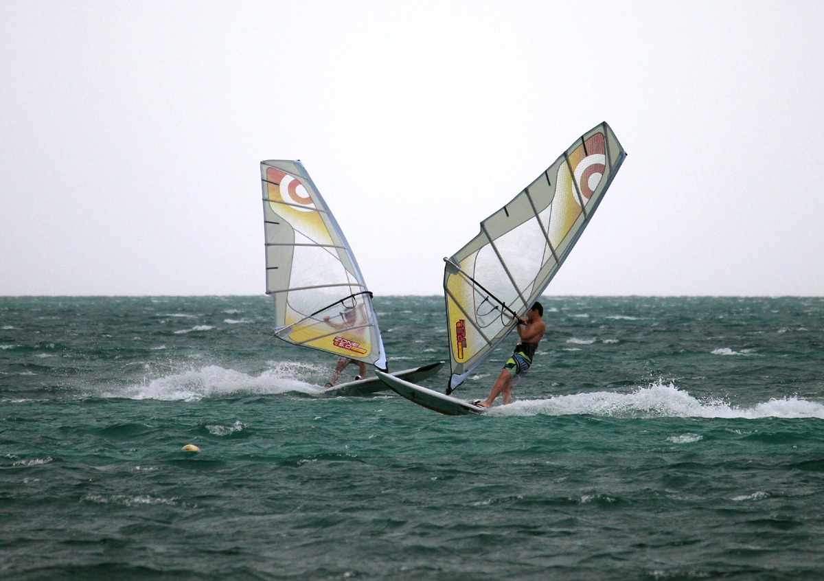 Expert windsurfing conditions, this was in late March