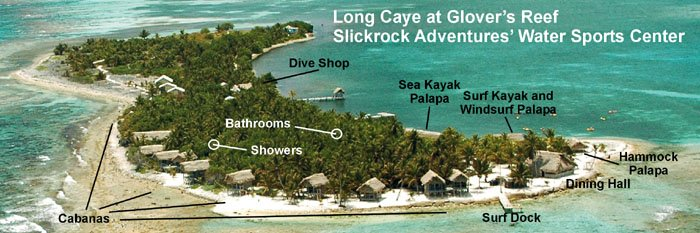 Long Caye at Glover's Reef map