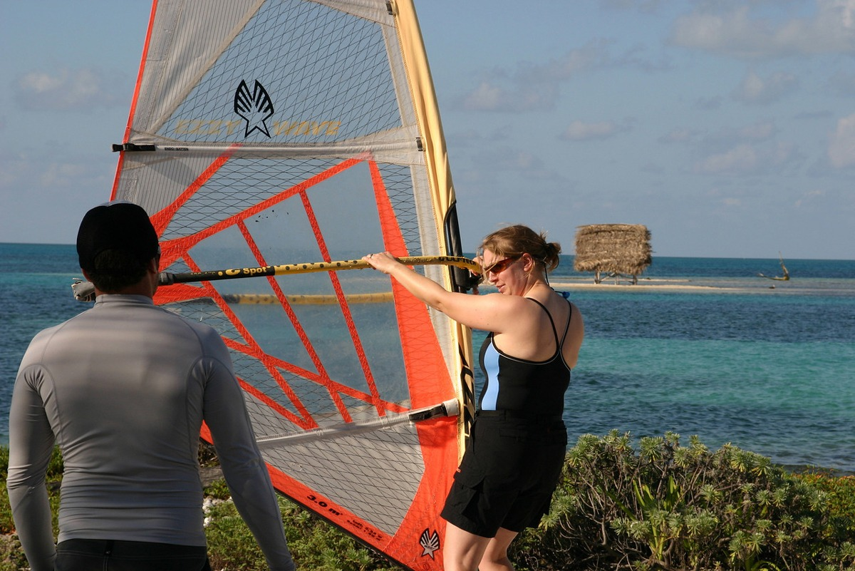 Using our dry land windsurf trainer allows you to progress quickly
