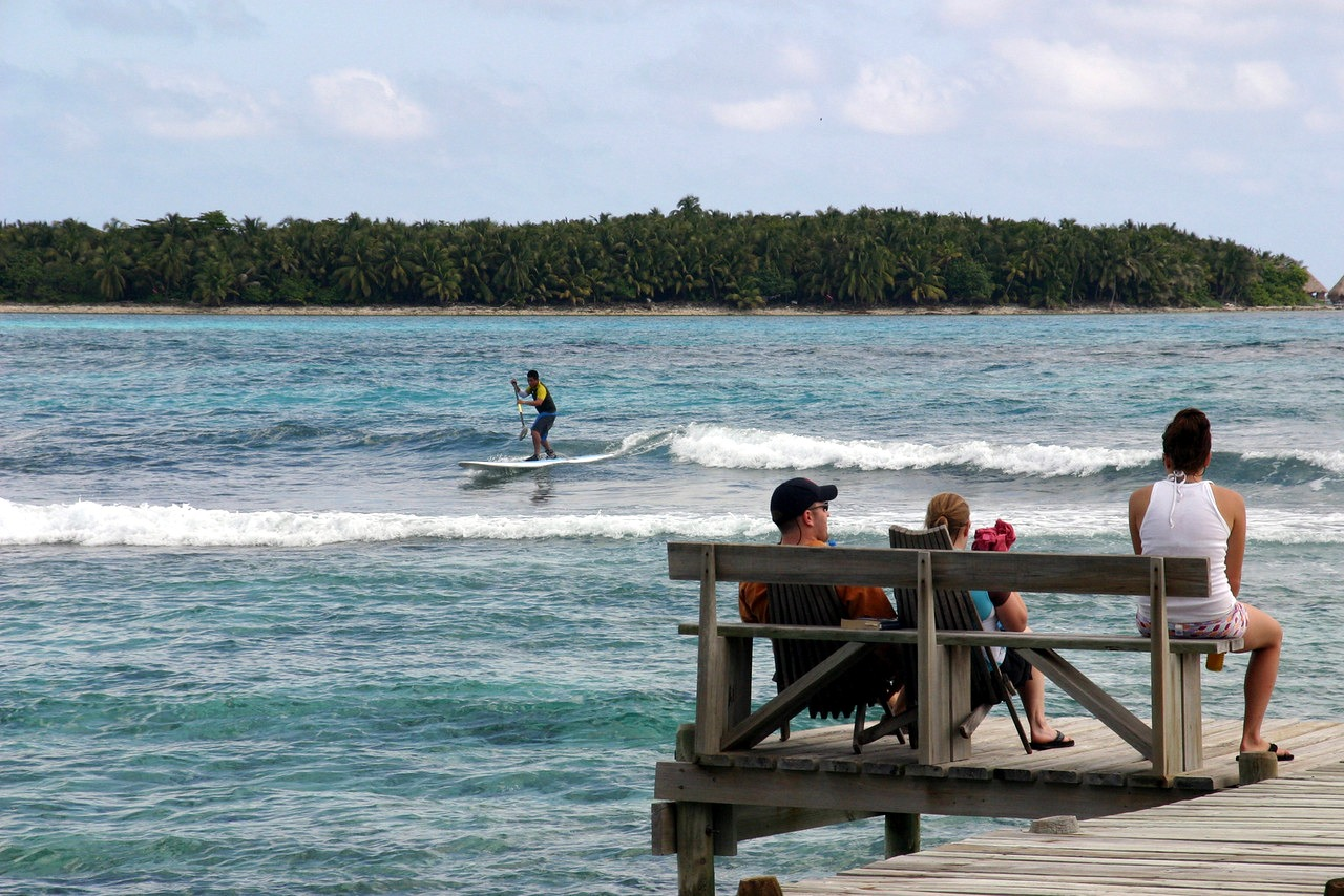 Long Caye surf dock