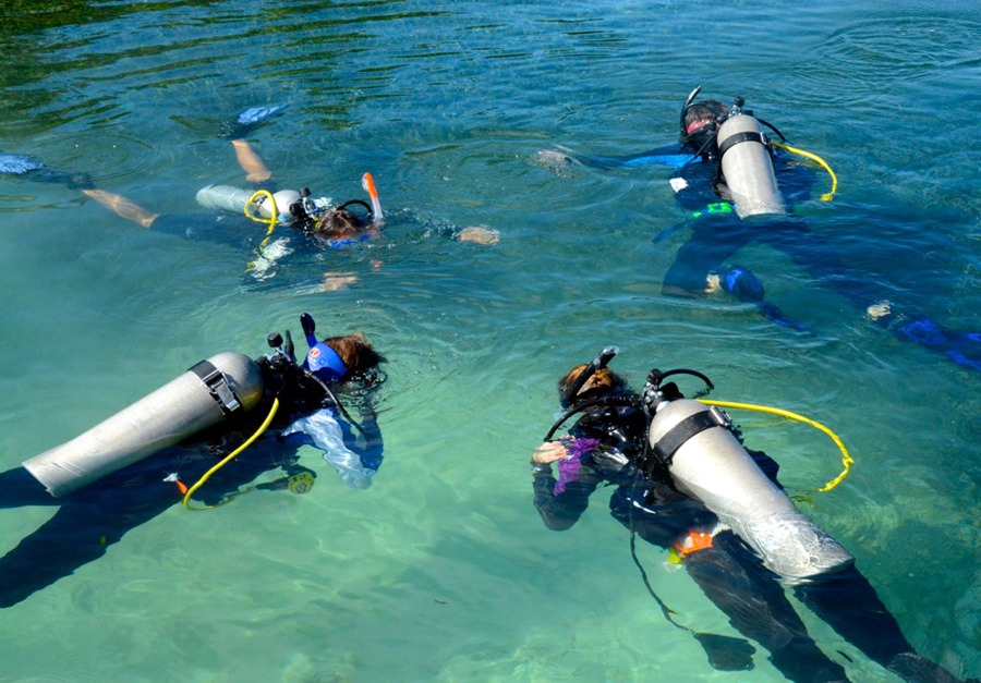 You can get certified to dive during your week on our island