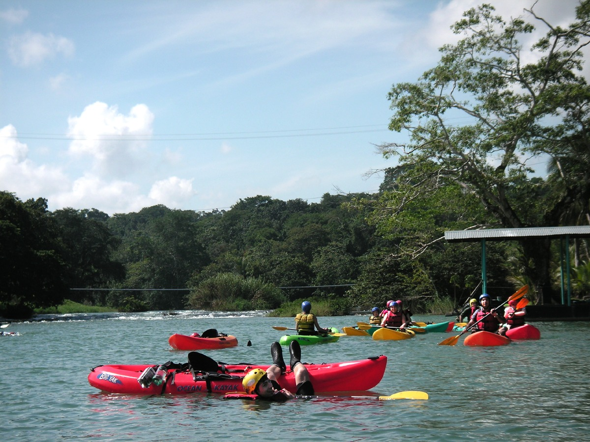 A beautiful day on the Mopan River in Belize
