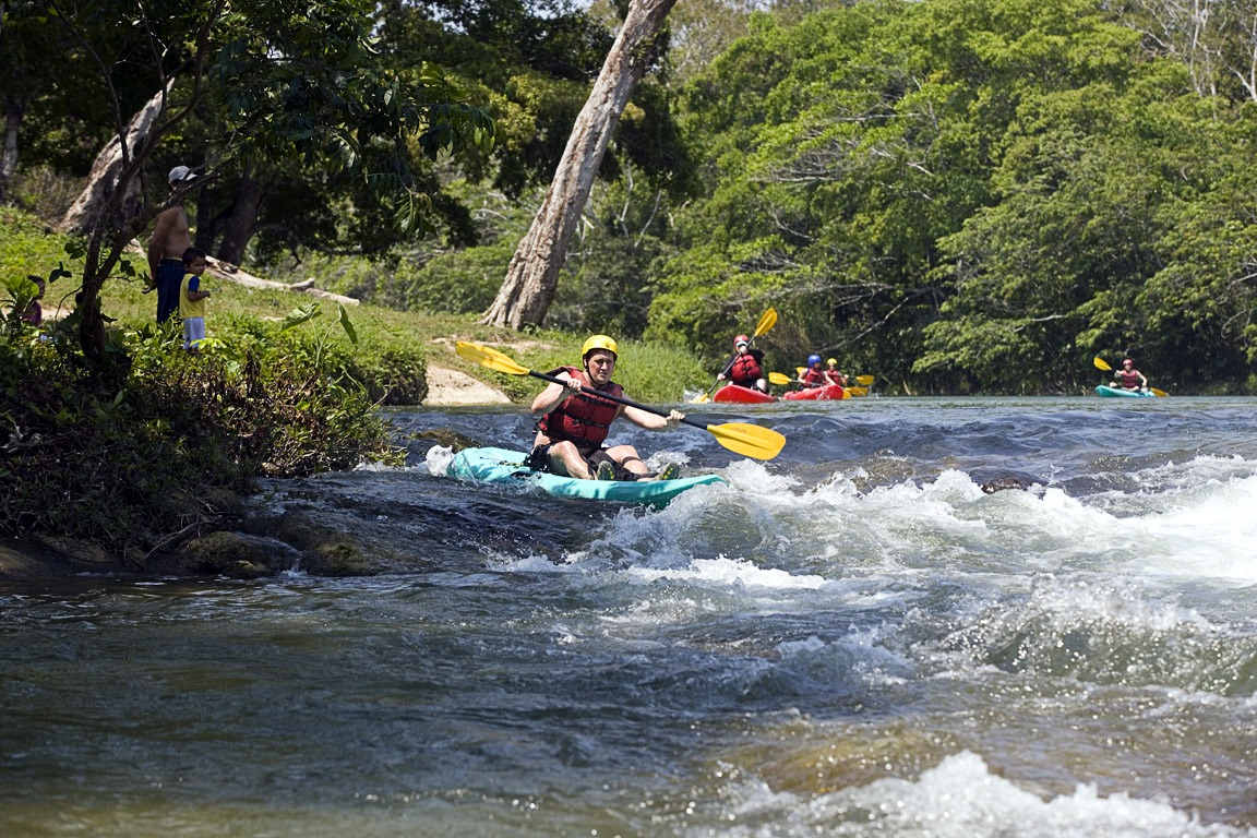Whitewater on the Mopan River in Belize