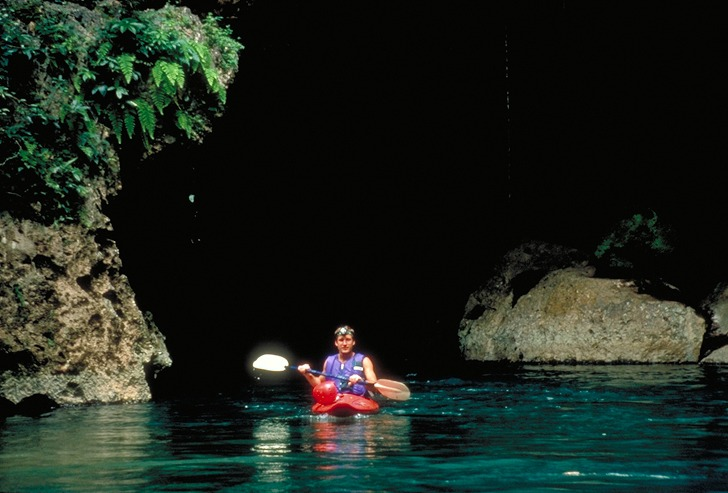 Caves Branch River cave by kayak