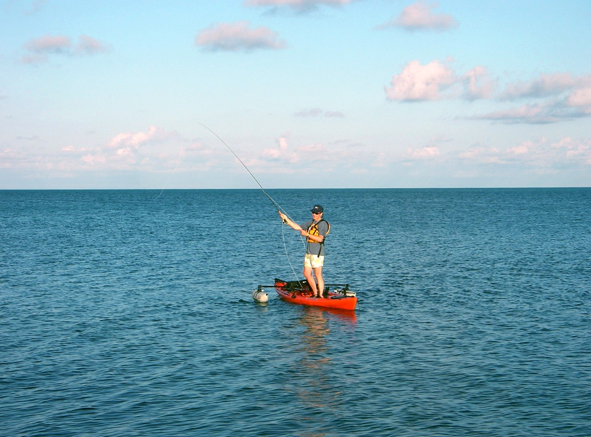 Anchor your fishing kayak just off our shore for great bonefishing!