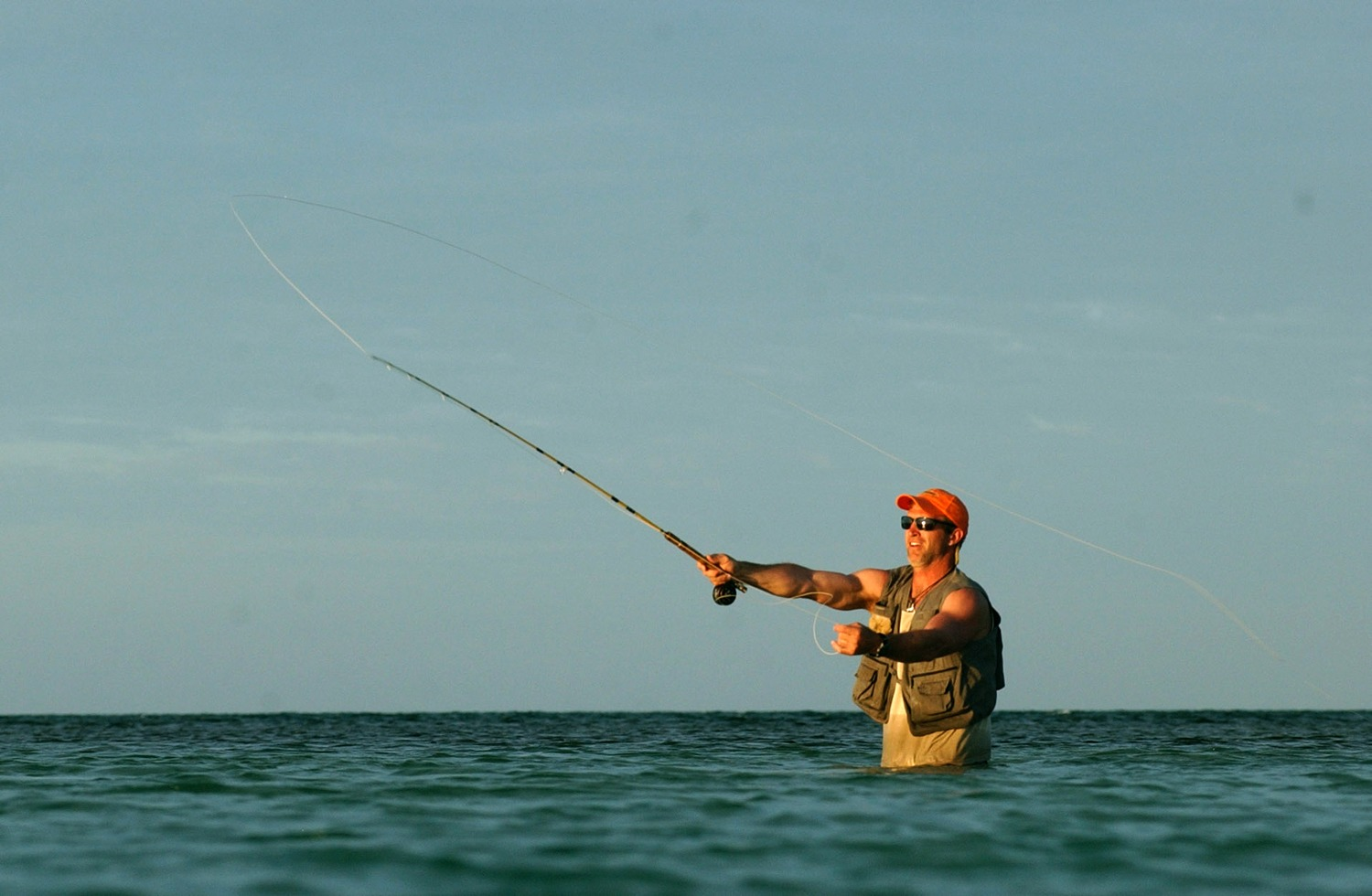Searching for bonefish, Long Caye at Glover's Reef in Belize