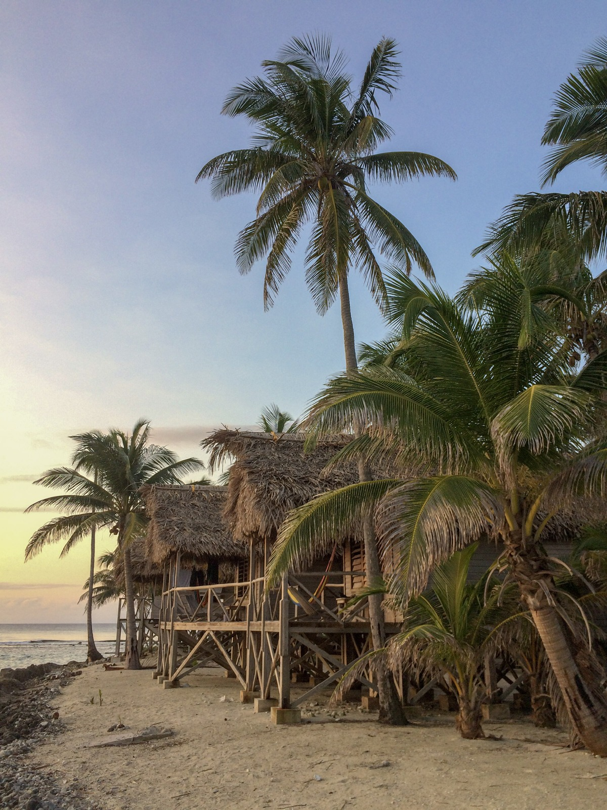 Long Island cabanas in Belize