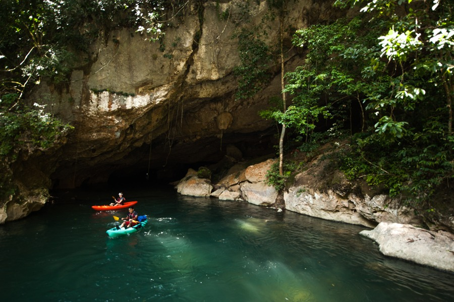 Kayaking caves in Belize
