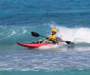 Belize surf kayaking