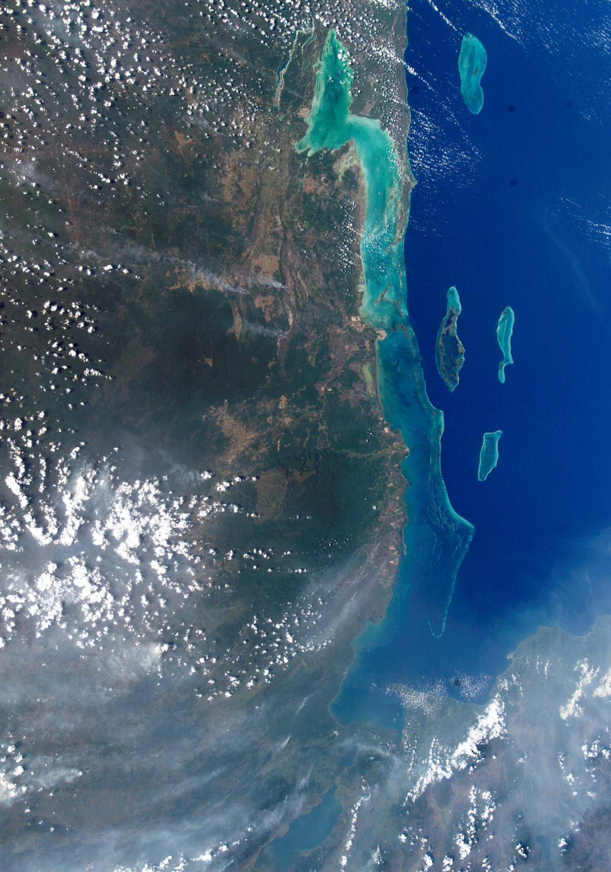 Belize Barrier Reef satellite image