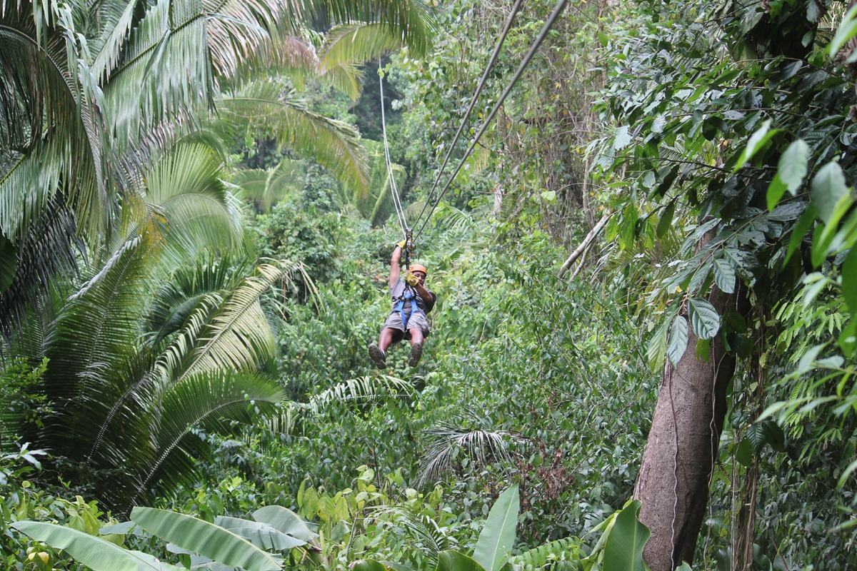 Bocawina Belize zipline through the rainforest canopy