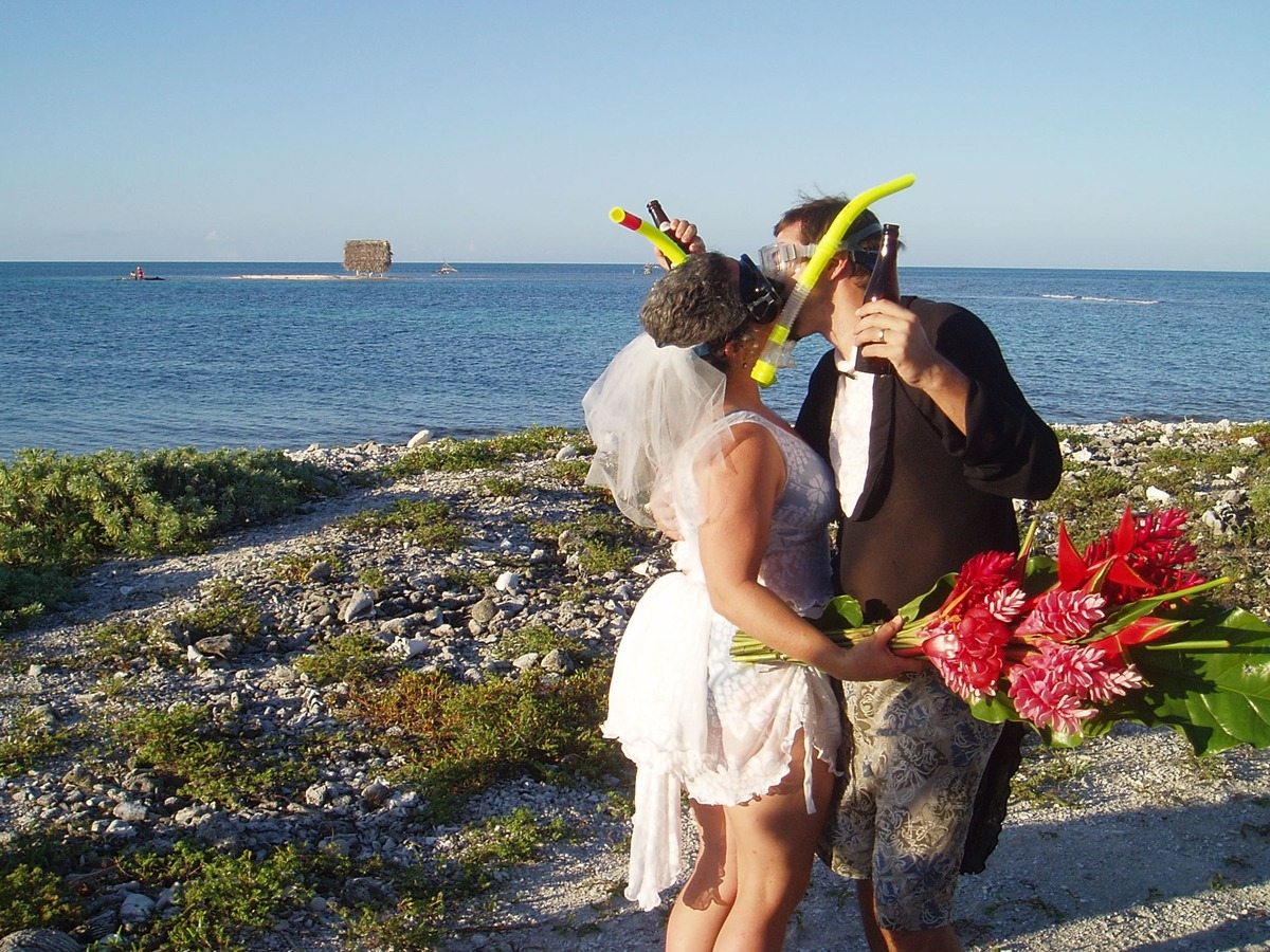 Belize island wedding