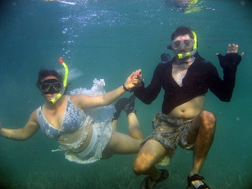 Underwater wedding!