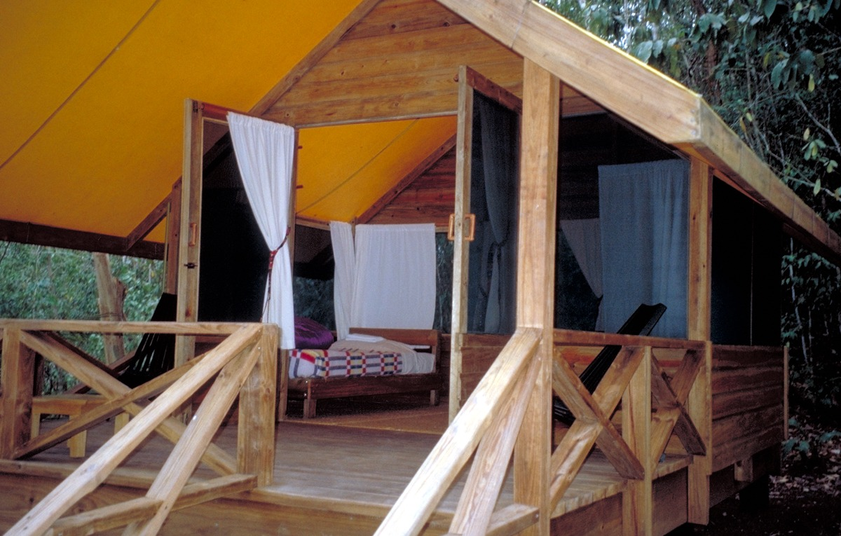 Chaa Creek tent cabin interior