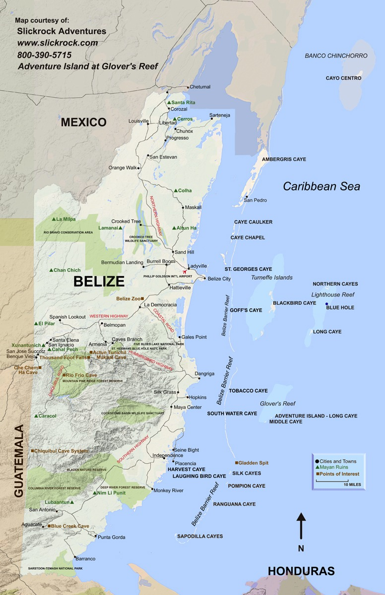 Free Belize map