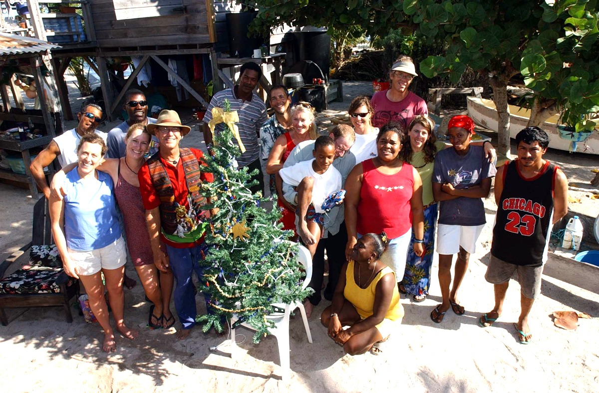 Christmas on the island, Long Caye at Glover's Reef