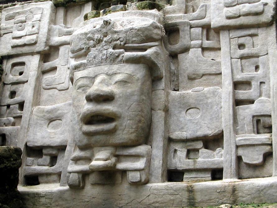 Lamanai Mayan mask