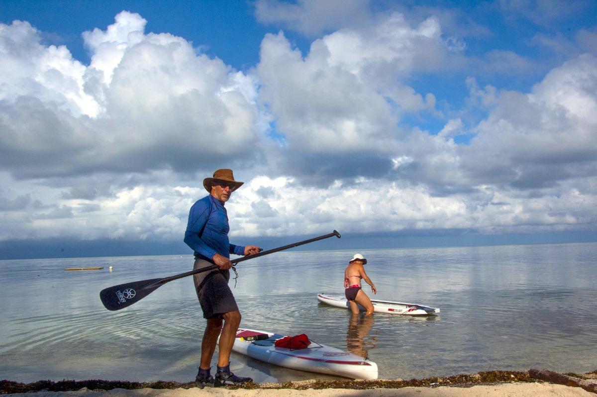 Paddleboarding Glover's Reef, Belize