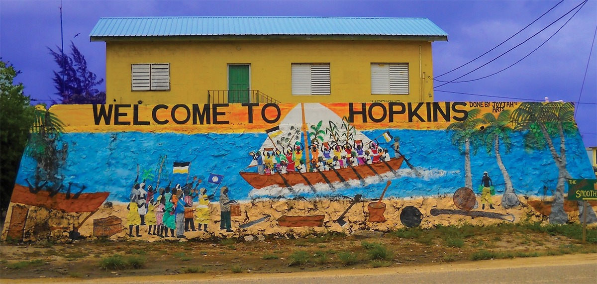 Entrance to Hopkins, Belize