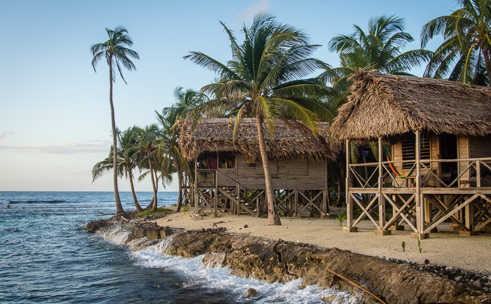 Beach bungalow in Belize