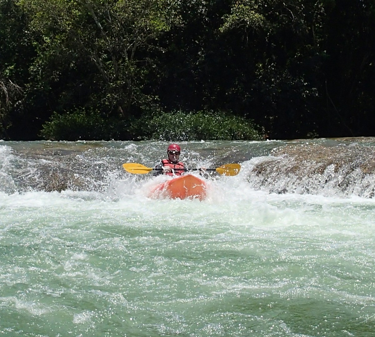 Kayaking on the Mopan River in Belize
