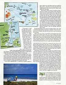 Islands magazine Belize article