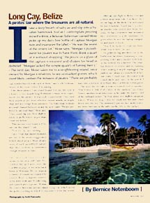 National Geographic Traveler adventure travel Belize article